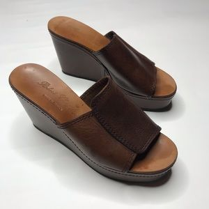 ROBERT CLERGERIE LEATHER platform Sandals 6.5